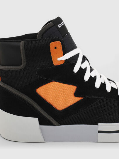 Diesel - S-DESE MS, Schwarz/Orange - Sneakers - Image 5