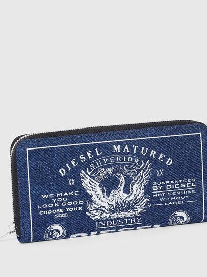 Diesel - 24 ZIP, Blau - Portemonnaies Zip-Around - Image 4