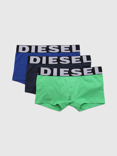 Diesel - UMBX-USHAWNTHREEPACK, Grün/Blau - Underwear - Image 1
