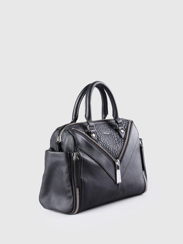 Diesel - LE-TRASY, Lederschwarz - Satchel Bags und Handtaschen - Image 3
