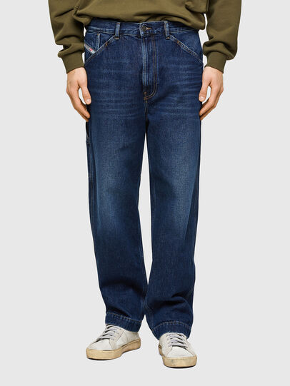 Diesel - D-Franky 009NE, Dunkelblau - Jeans - Image 1