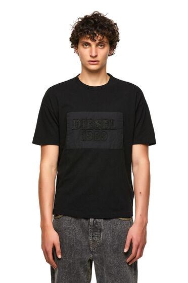 DieselXDiesel T-Shirt mit Aufnäher mit unverarbeiteten Kanten