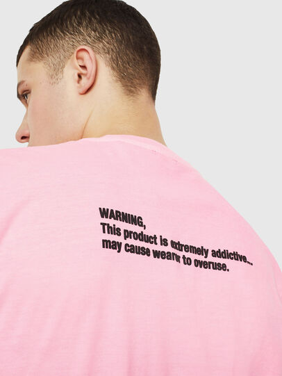 Diesel - T-JUST-NEON, Rosa - T-Shirts - Image 7
