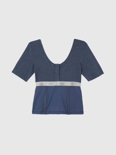 Diesel - UFTEE-TOPCUT-DN, Blau - T-Shirts - Image 1