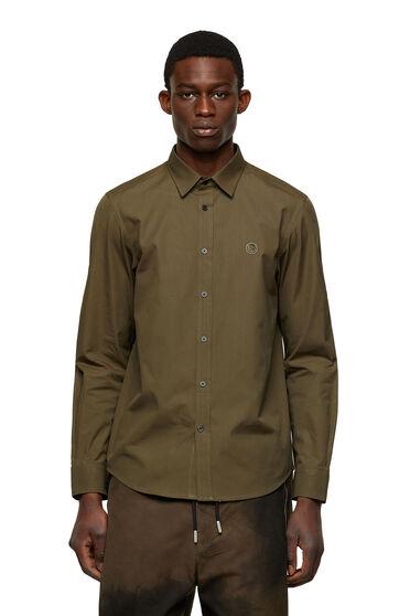 Langärmeliges hemd aus baumwollpoplin