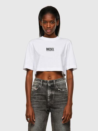 Diesel - T-RECROP-ECOSMALLOGO, Weiß - T-Shirts - Image 1