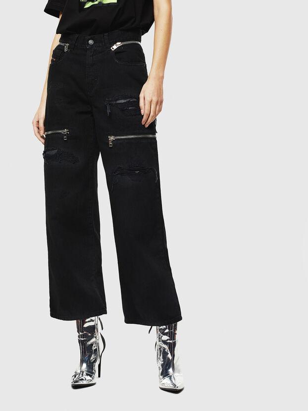 Widee 069JA, Schwarz/Dunkelgrau - Jeans