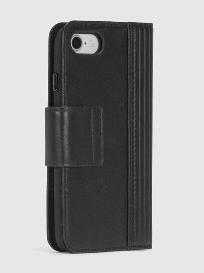 Diesel - BLACK LINED LEATHER IPHONE 8/7 FOLIO,  - Klappcover - Image 6