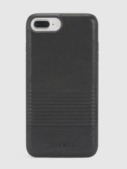 Diesel - BLACK LINED LEATHER IPHONE 8 PLUS/7 PLUS/6s PLUS/6 PLUS CASE, Schwarz - Schutzhüllen - Image 2