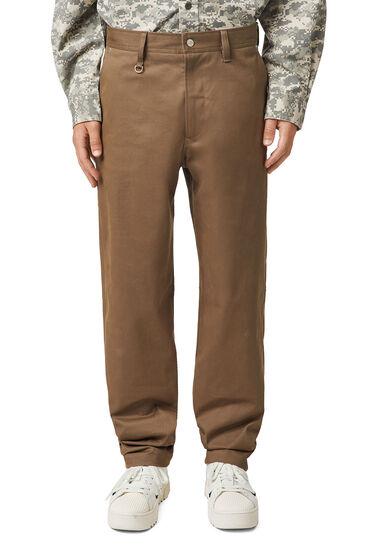 Hose aus aufgerautem Stretch-Twill