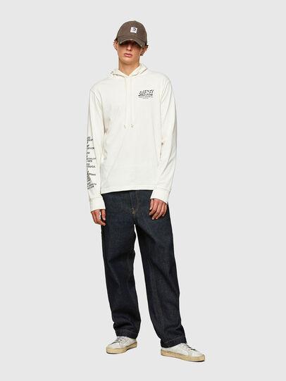 Diesel - T-JUST-LS-HOOD-SLITS, Weiß - T-Shirts - Image 5