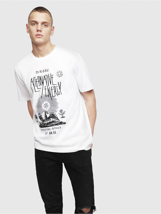 Diesel - T-JUST-YI, Weiß - T-Shirts - Image 1