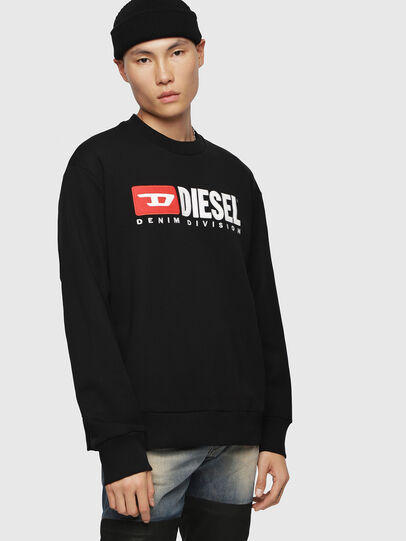 Diesel - S-CREW-DIVISION, Schwarz - Sweatshirts - Image 1