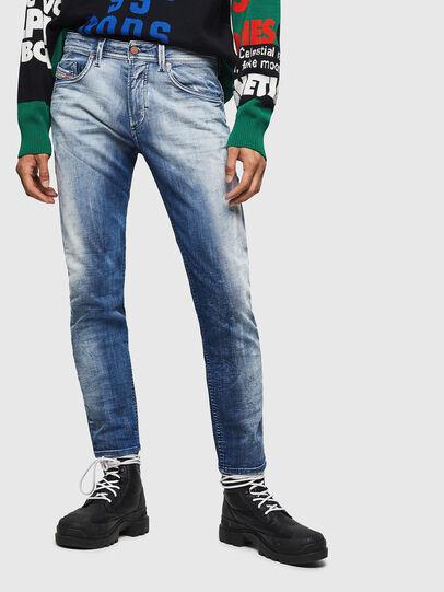 Diesel - Thommer JoggJeans 0870N, Mittelblau - Jeans - Image 1