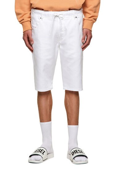 Shorts im Slim Fit aus einfarbigem JoggJeans®-Material