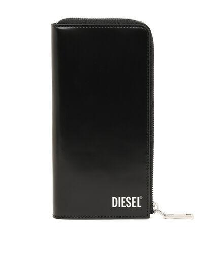 Diesel - L-24 ZIP, Schwarz - Portemonnaies Zip-Around - Image 1