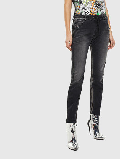 Diesel - Krailey JoggJeans 0094Q, Schwarz/Dunkelgrau - Jeans - Image 1
