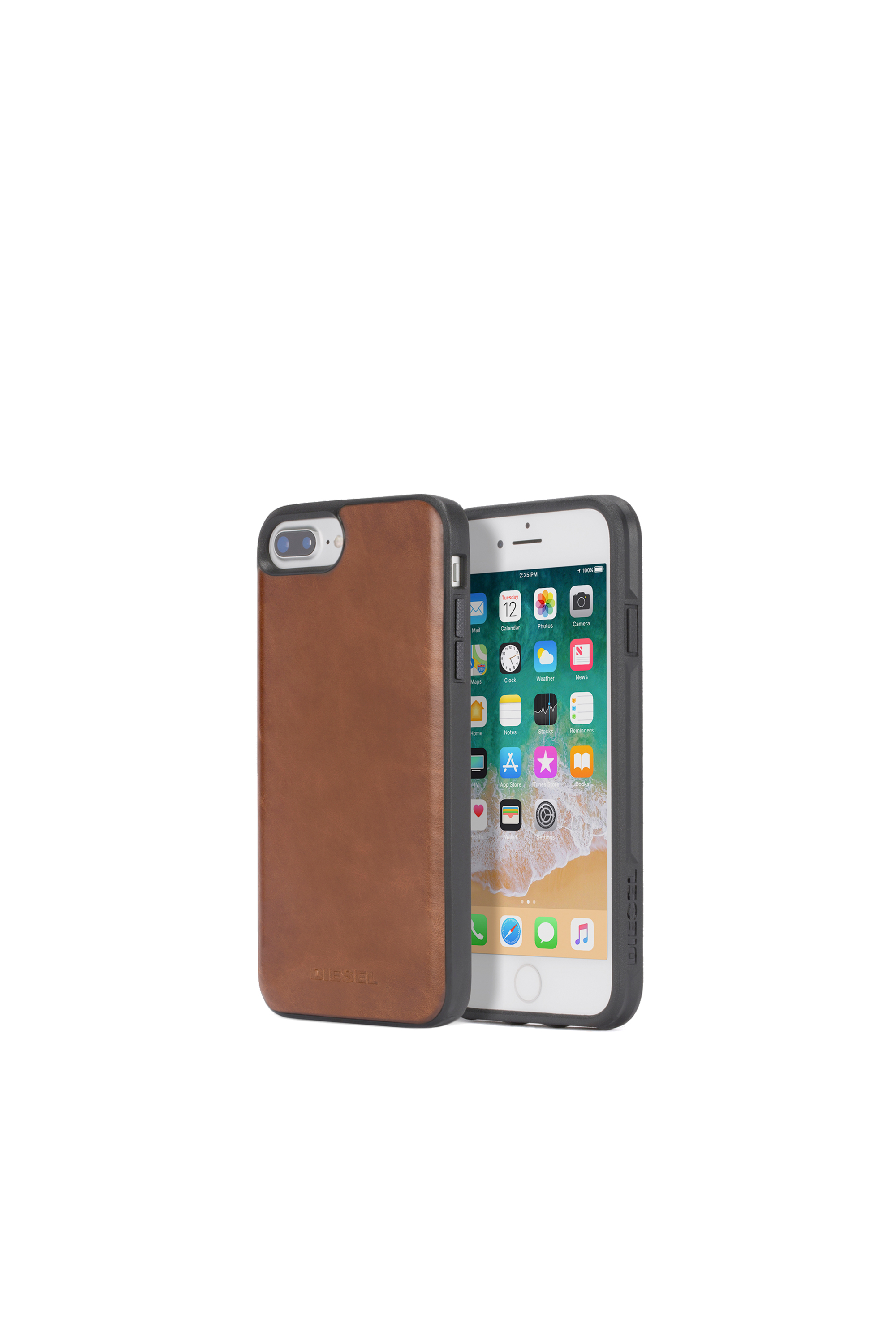 Diesel - BROWN LEATHER IPHONE X CASE,  - Schutzhüllen - Image 1