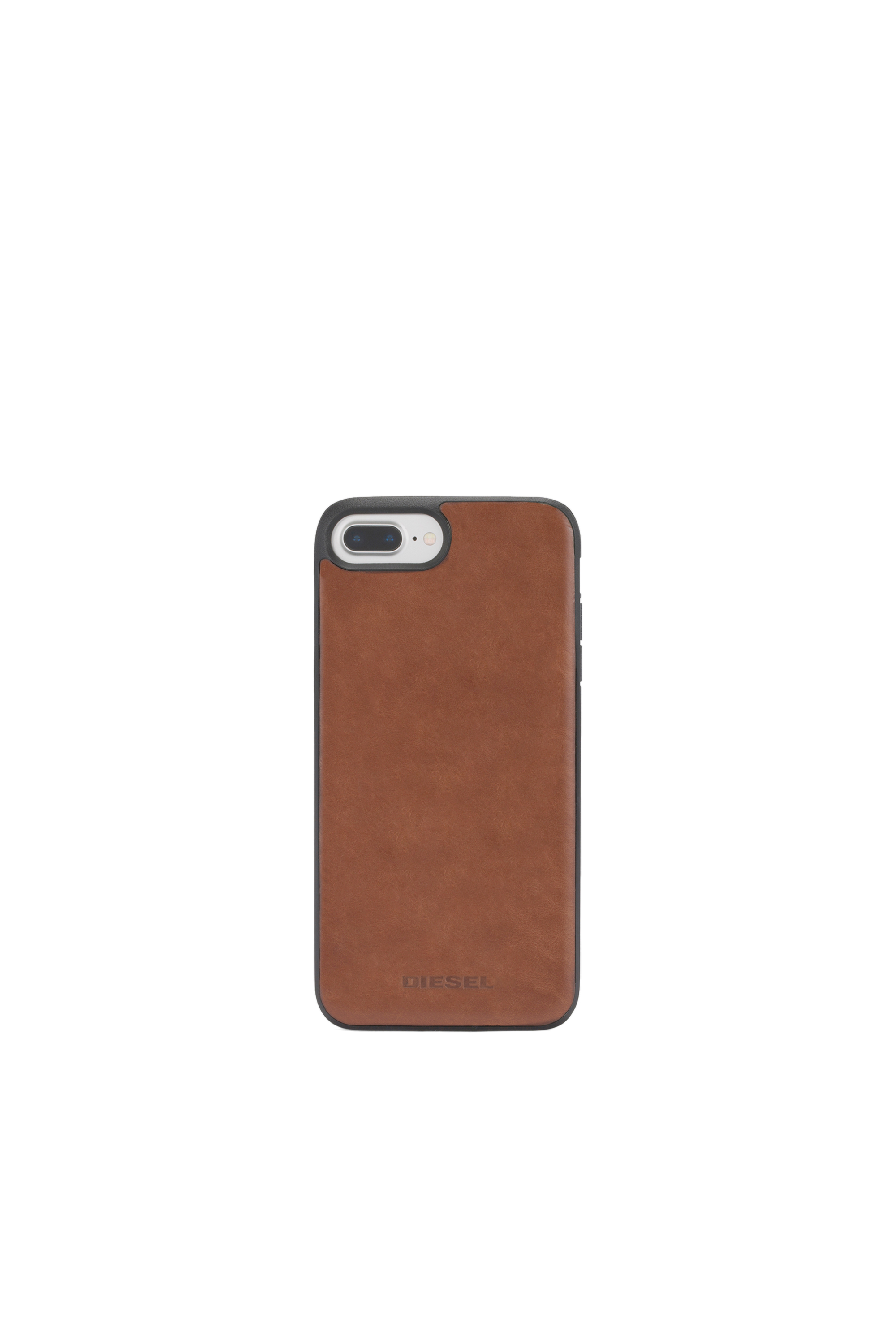 Diesel - BROWN LEATHER IPHONE X CASE,  - Schutzhüllen - Image 4