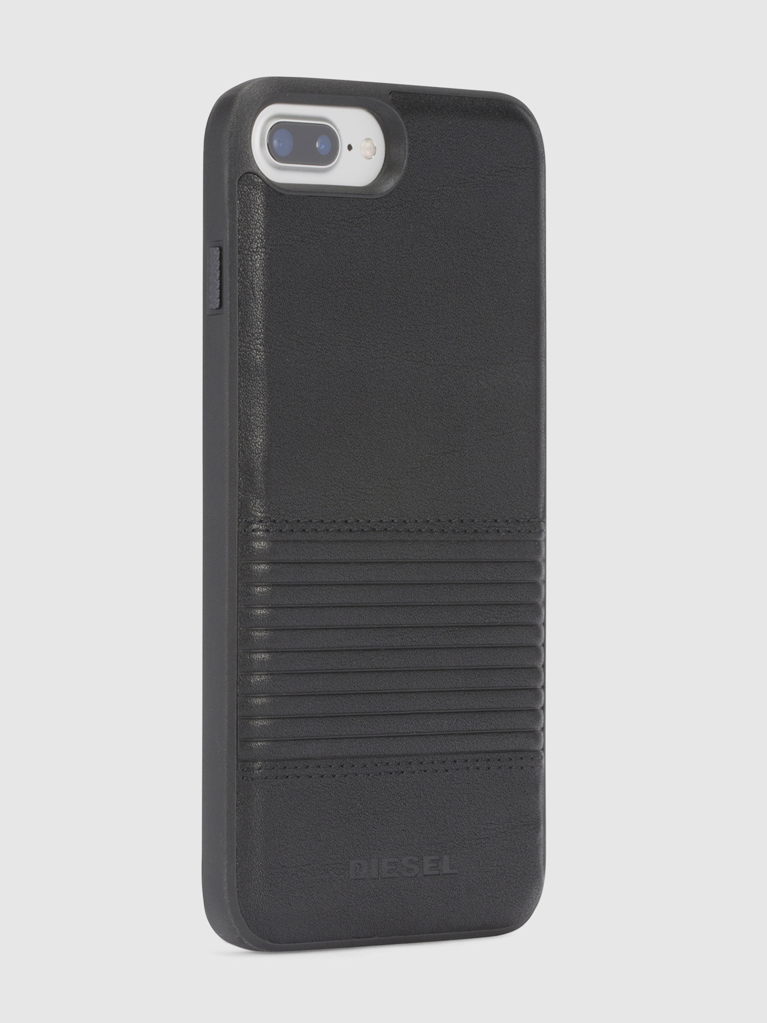 Diesel - BLACK LINED LEATHER IPHONE 8/7/6s/6 CASE,  - Schutzhüllen - Image 5
